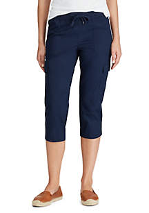 Chaps Shelby Roll Blue Cargo Capris