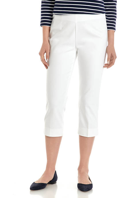 Chaps Womens Stretch Cotton Blend Capri Pants