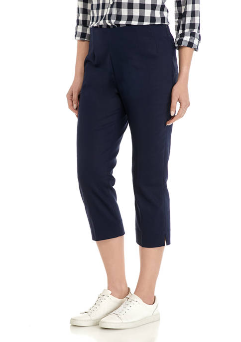 Chaps Womens Stretch Cotton Blend Capri Pants