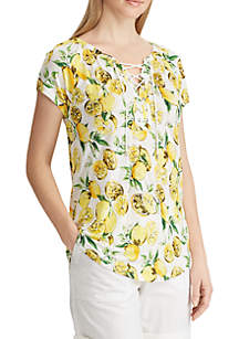 Chaps Floral Jersey Top