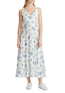 Chaps Floral Cotton Dress