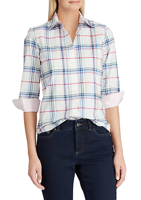 Chaps No Iron Plaid Broadcloth Shirt