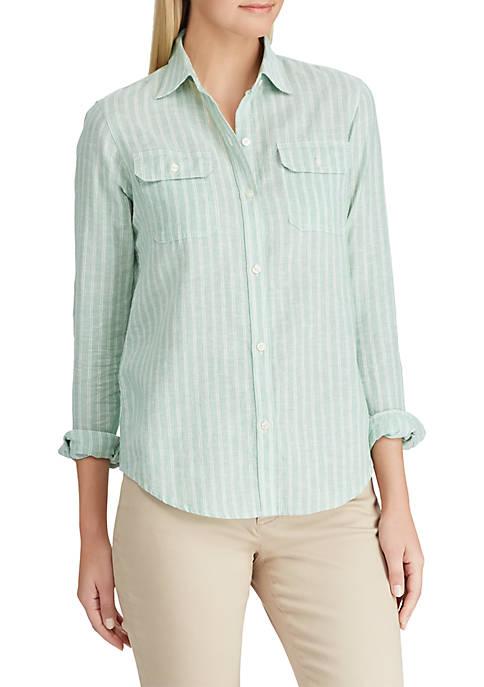 Chaps Line Cotton Stripe Shirt