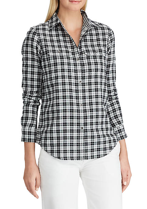 Chaps Gingham Cotton Shirt