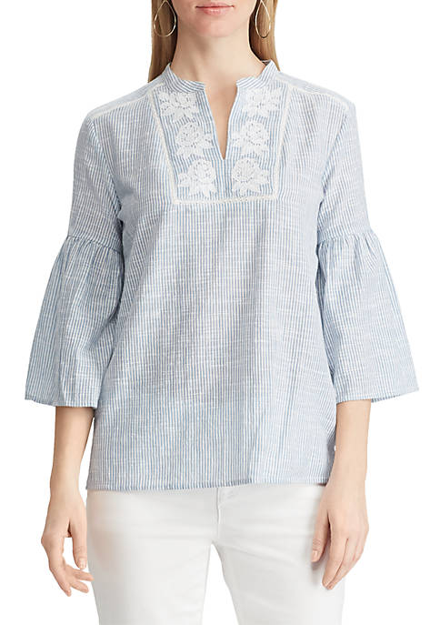 Embroidered Lace Cotton Top