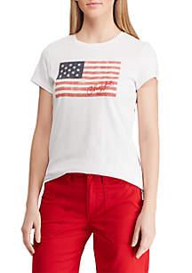 Chaps Short Sleeve Flag T Shirt