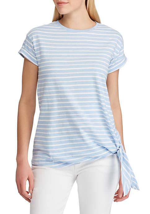Short Sleeve Side Tie T Shirt
