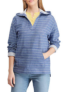 Chaps Striped Cotton Blend Hoodie