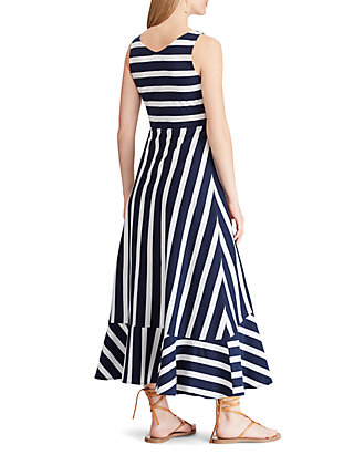 4caf5b0bbd Chaps Striped Sleeveless Maxi Dress Chaps Striped Sleeveless Maxi Dress