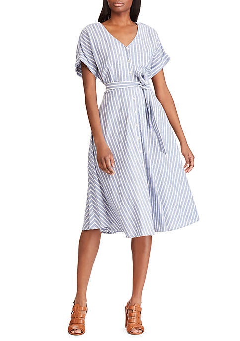 Striped Cotton Linen Dress