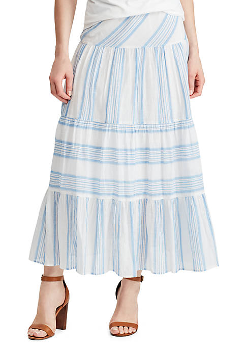 Tiered Cotton Skirt