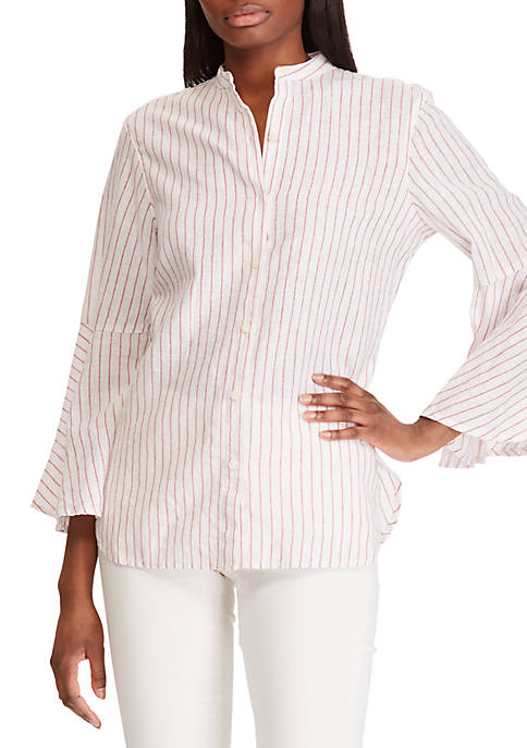 Chaps Striped Cotton Blouse
