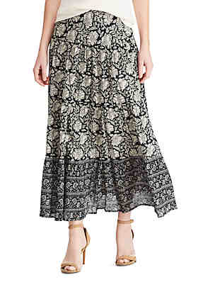 f1fcf48d1 Chaps Tiered Maxi Skirt ...