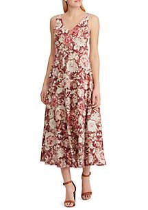 Chaps Noel Floral Midi Dress