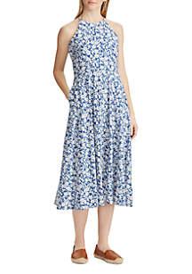 Chaps Floral Jersey Dress