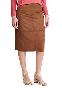Chaps Eliza Vegan Suede Skirt