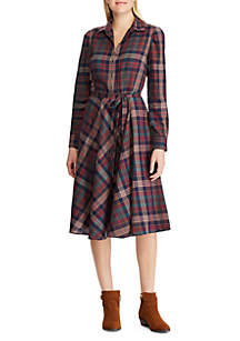 Chaps Women's Stefanie Plaid Shirt Dress