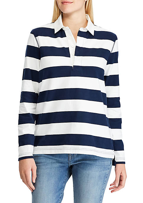 Chaps Womens Ross Striped Rugby Top