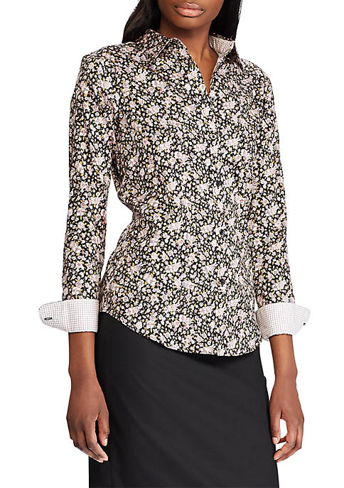 Chaps Jamie Long Sleeve Floral Non Iron Shirt