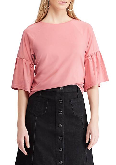Chaps Cotton Modal Short Sleeve Knit Top