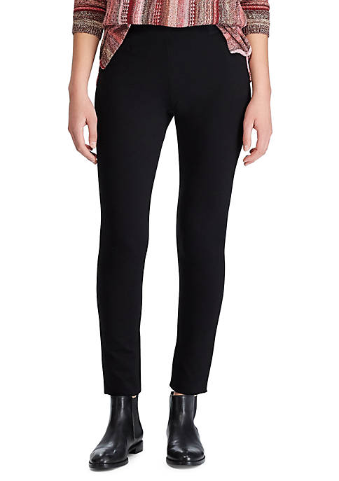 Chaps Womens Piney Ponte Skinny Pants