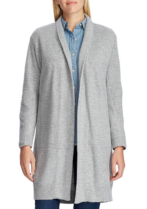 Chaps Womens Textured Cardigan