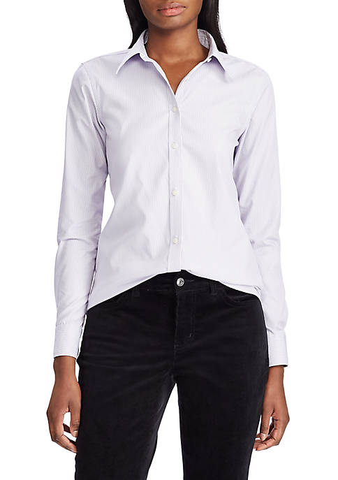 Chaps Womens Jamie Stripe Non Iron Shirt