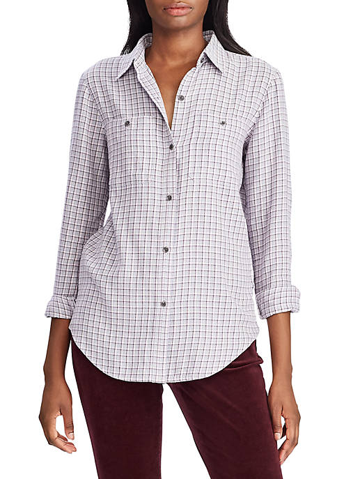 Chaps Womens Sarabeth Plaid Shirt
