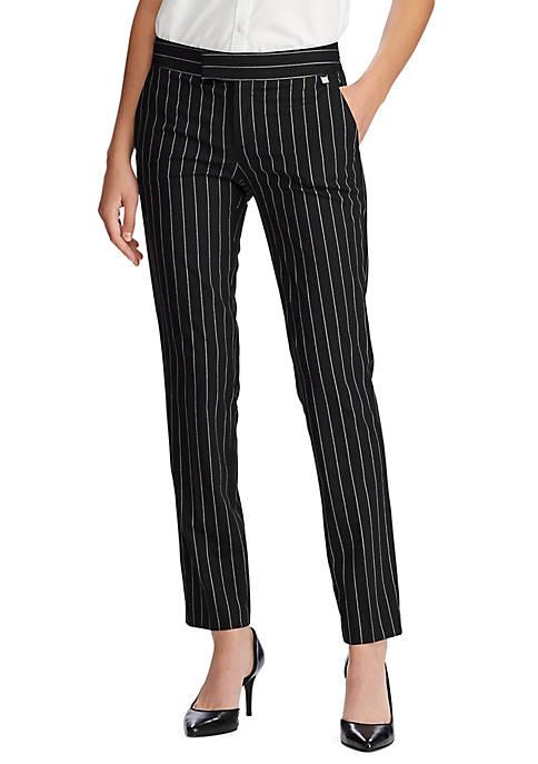 Chaps Womens Kim Pinstripe Pants
