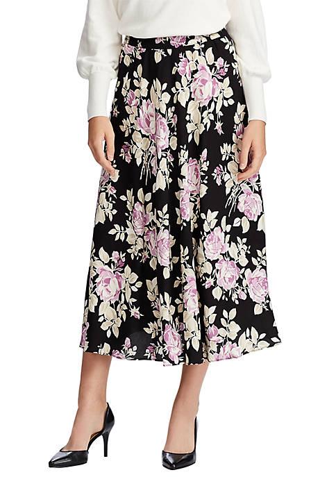 Chaps Womens Tina Floral Midi Skirt