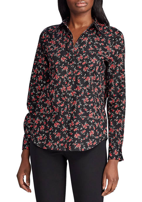 Chaps Womens Floral Non Iron Blouse