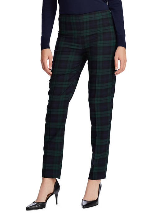 Chaps Womens Sienna Plaid Skinny Ankle Pants