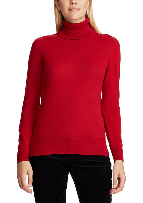 Chaps Womens Peggy Long Sleeve Turtleneck Sweater