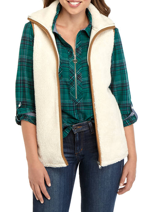 Chaps Womens Melly Sherpa Vest