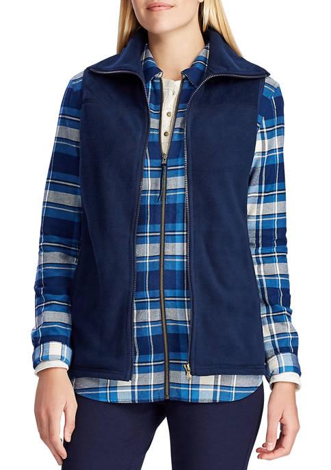 Chaps Womens Maddock Quilt Fleece Vest