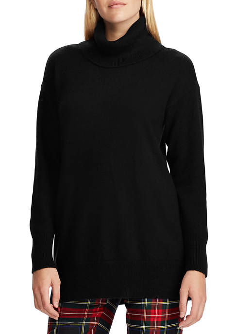 Chaps Womens Ruthi Turtleneck Tunic Sweater