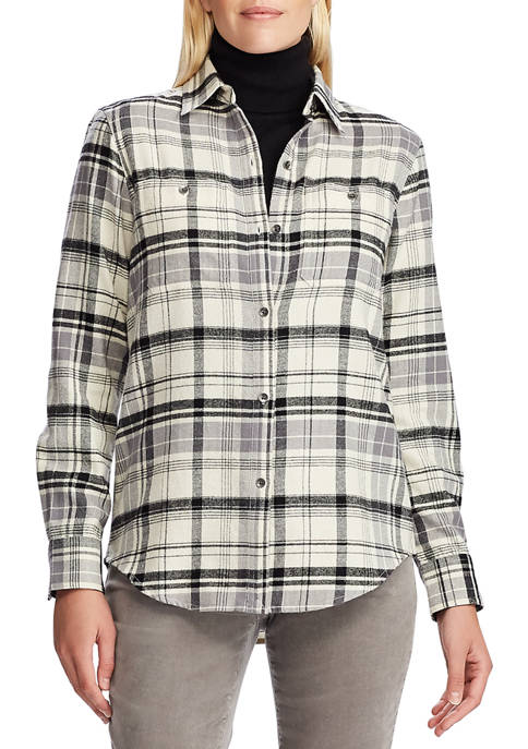 Chaps Womens Plaid Flannel Shirt