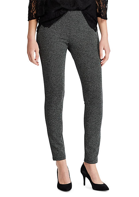 Chaps Womens Houndstooth Ponte Pants