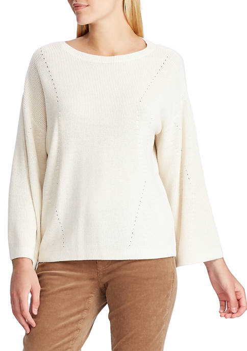 Chaps Womens Jasper Dolman Long Sleeve Sweater