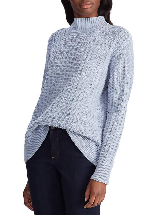 Chaps Womens Waffle Knit Sweater