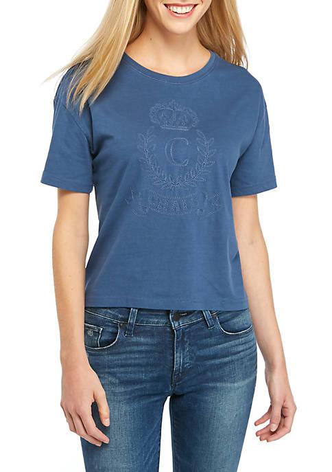 Chaps Womens Annabelle Bling Logo T-Shirt