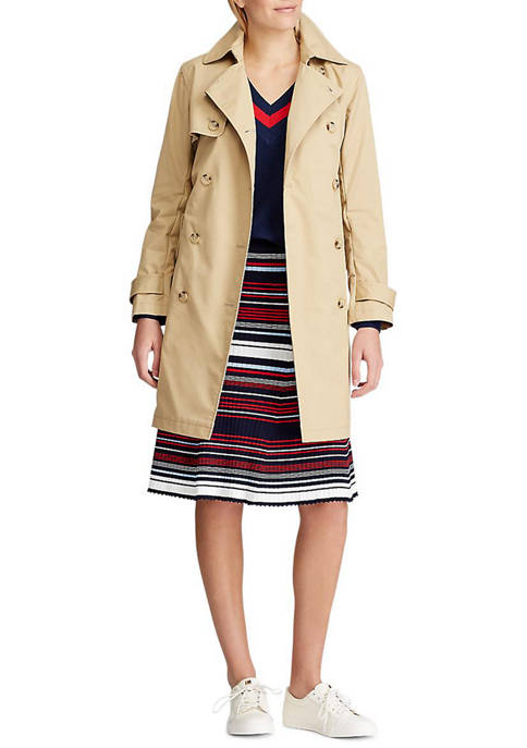 Chaps Womens Kathleen Double Breasted Trench Coat