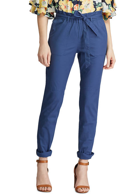 Womens Kennedy Tie Waist Cotton Pants