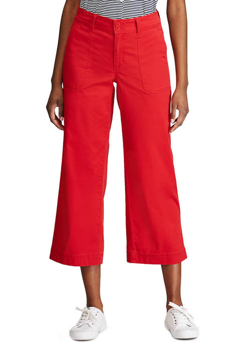 Chaps Womens Wide Leg Pants