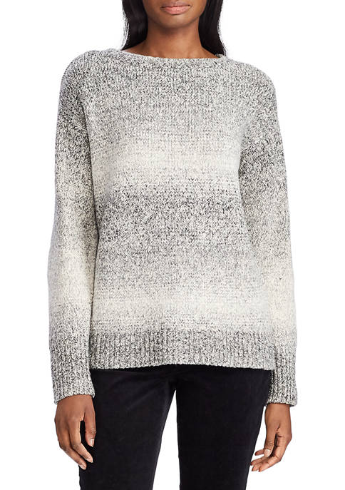Chaps Womens Amberia Textured Stripe Sweater
