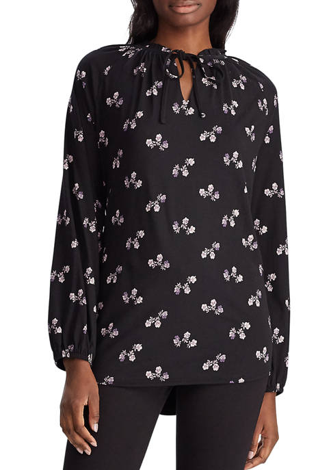 Chaps Womens Marshall Floral Peasant Top
