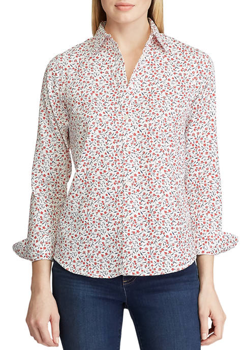Chaps Womens Jamie Floral Non Iron Shirt