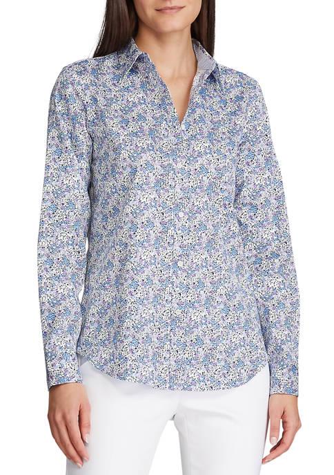 Chaps Womens Jamie Floral Non Iron Shirt