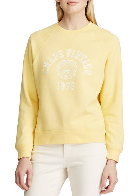 Womens Long Sleeve Logo Graphic Sweatshirt