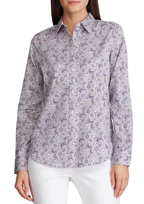 Chaps Womens Jamie Paisley Non Iron Shirt